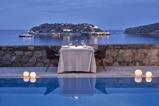 Arrange for private dining with a view to Spinalonga Island