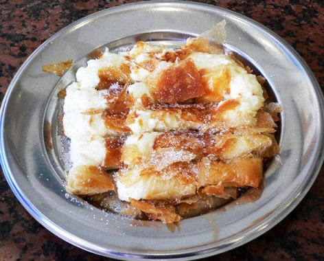 Bougatsa in Crete - Iordanis in Chania