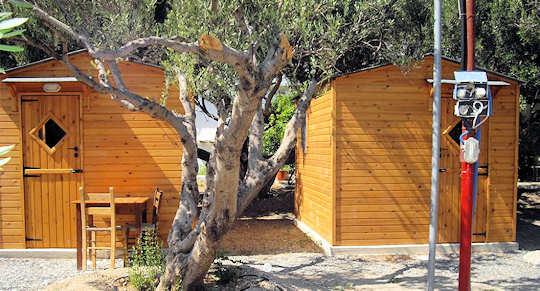 Camping Koutsounari - wooden tent