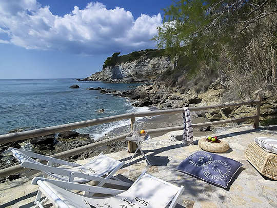 Your private beach at Carob Villa, Crete