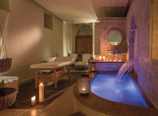 The elegant spa room at Casa Delfino in Chania