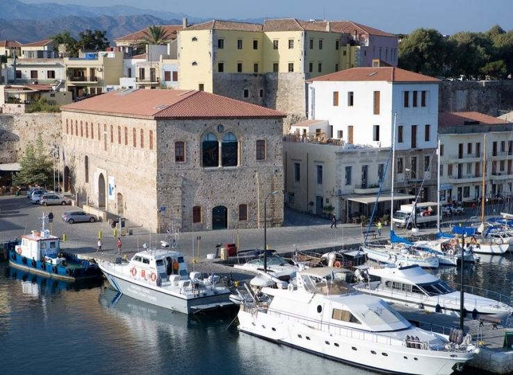 Chania Crete, the Grand Arsenal by the harbour