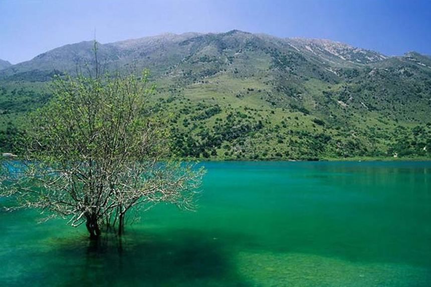 Lake Kournas - a tranquil inland lake
