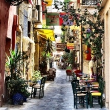 Colourful Chania (image by Atli Hardarson)