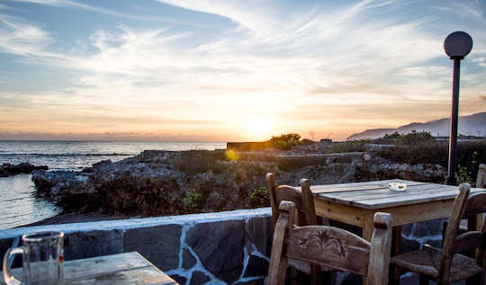 The view from the bar of Coral Guesthouse, Frangokastello, Crete