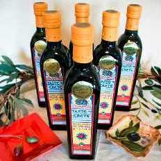 Bottles of Olive Oil from Crete