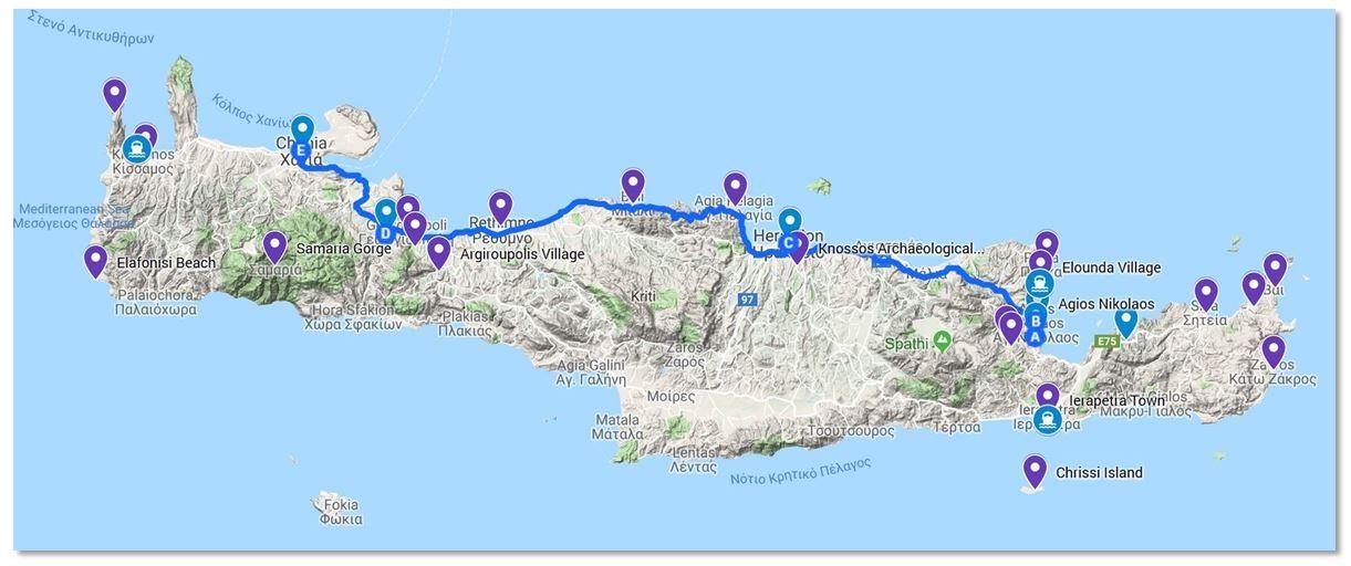 Greek Holiday Map