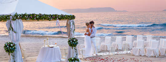 Caramel Resort sits directly on the beach and is perfect for a beach ceremony.
