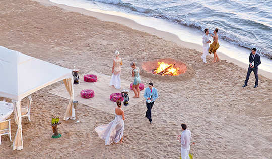 Arrange your beach party at Caramel Resort, Crete