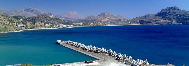 Rethymnon - Plakias Bay in the south of Rethymnon is a wide sweeping bay circled by mountains (image by rgfotos)