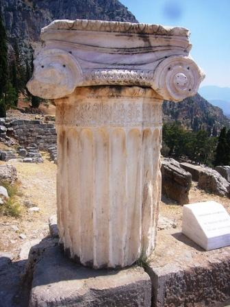 Ruins at Sanctuary of Athena Pronaia