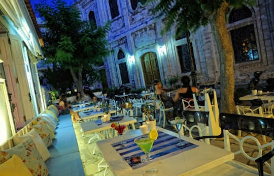 Dish Bar is next to Agios Titos Church in the centre of Heraklion