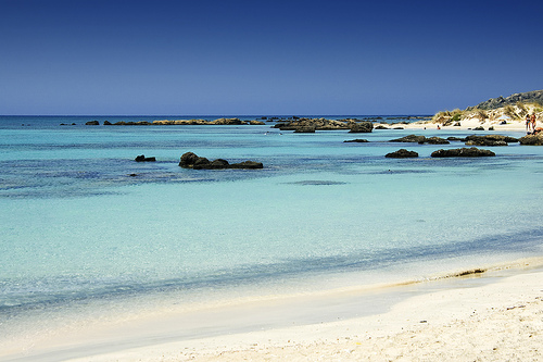 Elafonisi Beach - in the far south-west of Crete (image by Wolfgang Staudt)