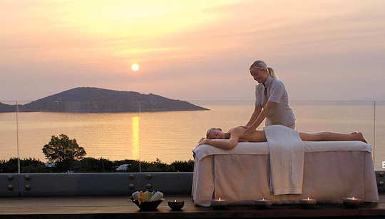 Sunrise massage at Elounda Beach Spa