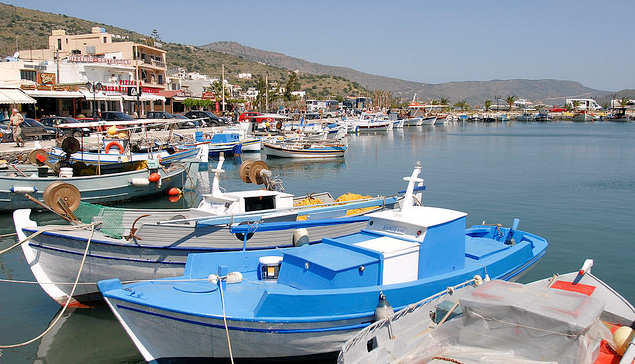 Elounda Village - Harbour with fishing boats (image by Ted Bassman)