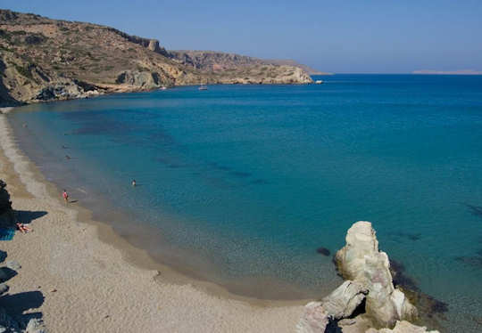 Erimoupolis Beach on the far eastern tip of Crete