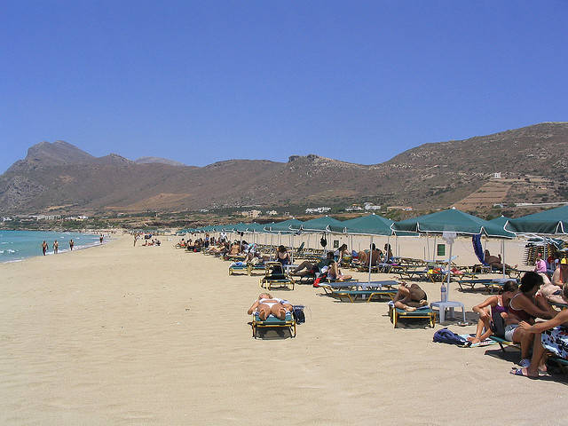 Falasarna Beach is wide and sandy
