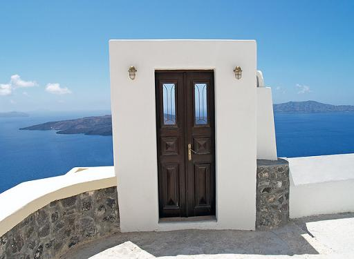 Door, Fira, Greece by PHOTOGRAPHRdotNET