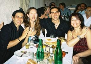 We Love Crete team at a wedding in Crete