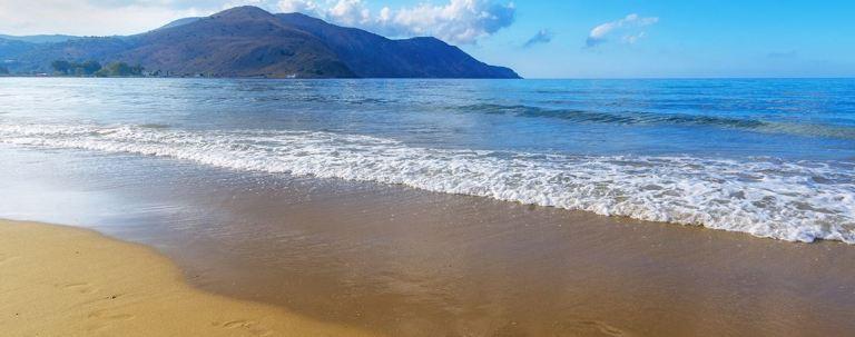 Georgioupolis Beach is wide and sandy