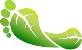 Green footprint logo