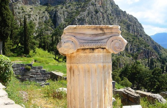 Delphi Greece - you can visit Delphi in a day trip from Athens (image by CT Snow)