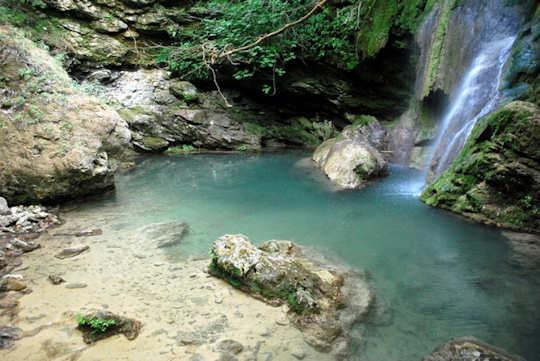 Waterfall in Kythera, Greece