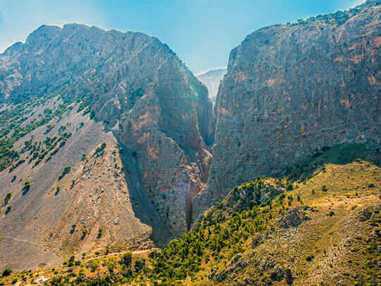 Ha Gorge in eastern Crete