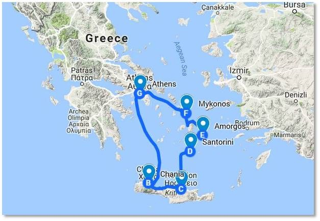 Greek Holiday Map