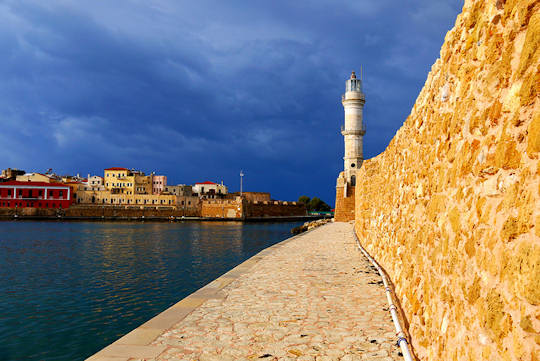 Crete - Old Town of Chania - Venetian Lighthouse and Harbour