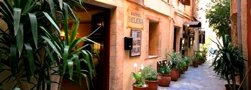 Hotel Helena in the tiny laneways of the Old Town of Chania