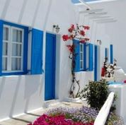 Hotel Tagoo - blue and white exterior