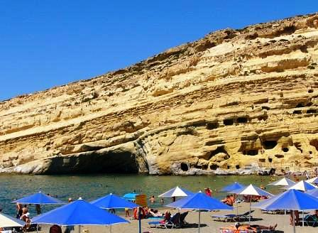 Matala Beach (image by Robert Paul Young)