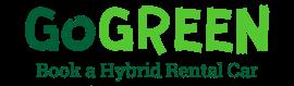 Go green book a hybrid hire car logo