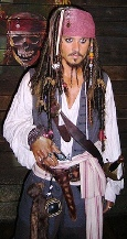 Johnny Depp as a pirate