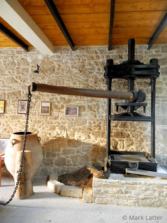 The Olive Press inside the Kamilari Fabrica (image by Mark Latter)