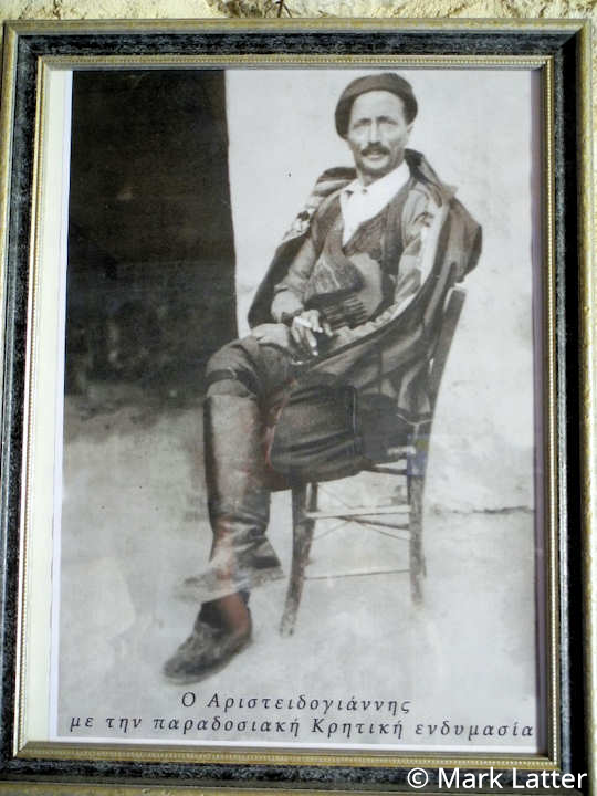 Aristidogiannis in his traditional Cretan outfit