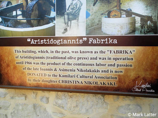 The dedication of the 'fabrika' which means 'factory' from the original family to the village