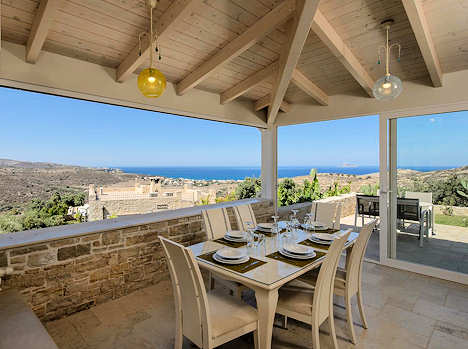 Koronio Villas with a view to the sea
