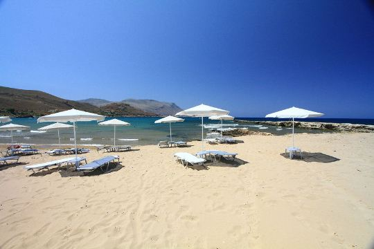Beach at Kastelli Kissamos in Crete