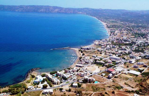Aerial view of the beautiful Gulf of Kissamos