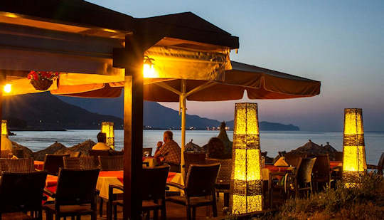 Maria Beach Restaurant - twilight next to the sea