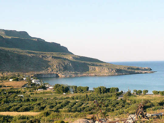 Kato Zakros Bay in eastern Crete