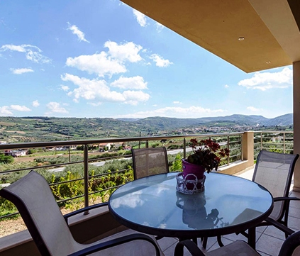 Country House in Nature - views across the valley of vineyards
