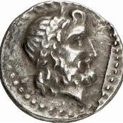 King Minos depicted on a coin