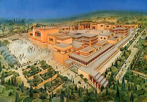 Knossos Palace - an artistic impression