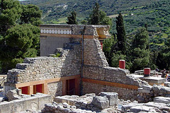Knossos Palace is partially reconstructed to reflect the culture of the Minoans