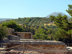 Knossos is set in a verdant valley
