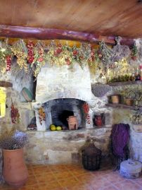 Kouriton House - traditional fireplace