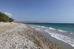 Kokkinos Pirgos Beach on the south coast